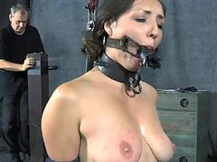 Lubricous jailing for tough chick