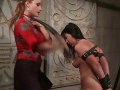 Mistress punishing her slavegirl seductive hard