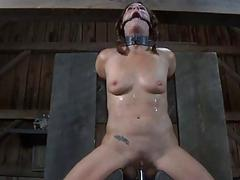 Wild torturing for down in the mouth slave