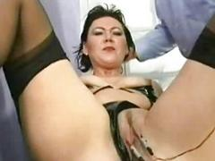 Two beautiful slaves with nice tits and wearing latex are lo