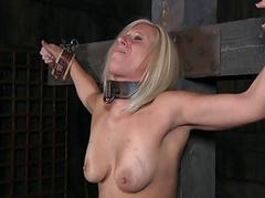 Tied give boobs thither toy pleasuring