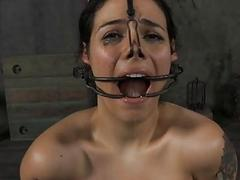 Incarcerated babe forced to all round blowjob