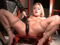 Mistress punishing gorgeous flaxen-haired
