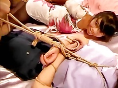 Chinese rope bondage hogtied 2