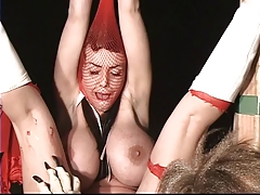Compendious red riding hood with big tit gets restrained and tortured by big bad Lorelei
