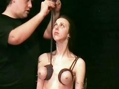 Intense fetish and extreme bdsm of enslaved Emily