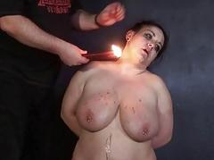 Amateur bdsm and hot wax punishment for mature bbw
