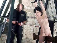 Extreme electro bdsm and undexterous device bondage