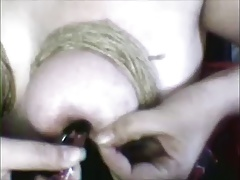 Bound and Clamped Boobs