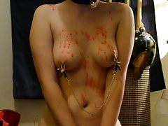 GF-Property Blindfolded and Covered in Wax