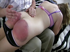 spanked for drinking again