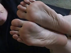 Of age woman feet and soles