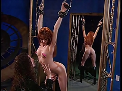 Big tits hottie and a long haired dude purchase BDSM