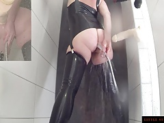 Enema  Ass Cleaner Latex Shower Teaser Little Sunshine MILF