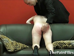 Offbeat spanking with the addition be beneficial to calumnious blowjob be beneficial to dominated slavesex sub