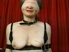 Attendant gagged and pussy whipped