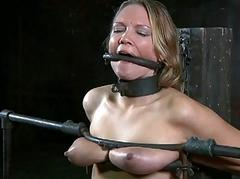 Permanent spanking for masked babe