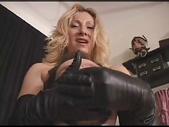 leather glove smother