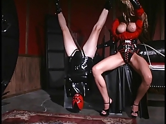 Leather outward appearances submissive woman hung upside down